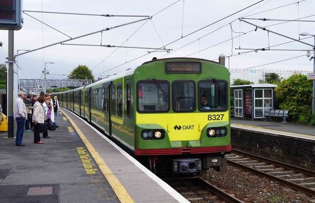 DART into Greystones train station