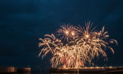 Fireworks at Greystones Harbour